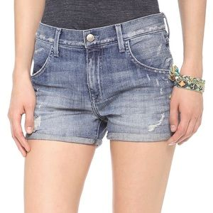 Wildfox the liv boyfriend distressed jean shorts